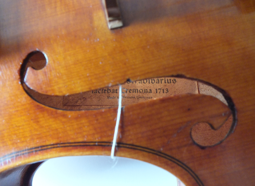 Violin Made in West Germany - Antonius Stradivarius 1713 - 1950年代 - 1 L