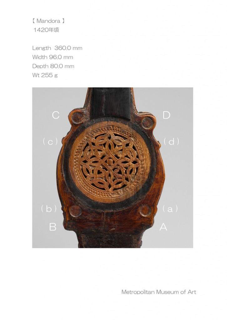 Mandora 1420年頃 L 360.0 W 96.0 D 80.0( 83.0 ) Wt 255 g - J L