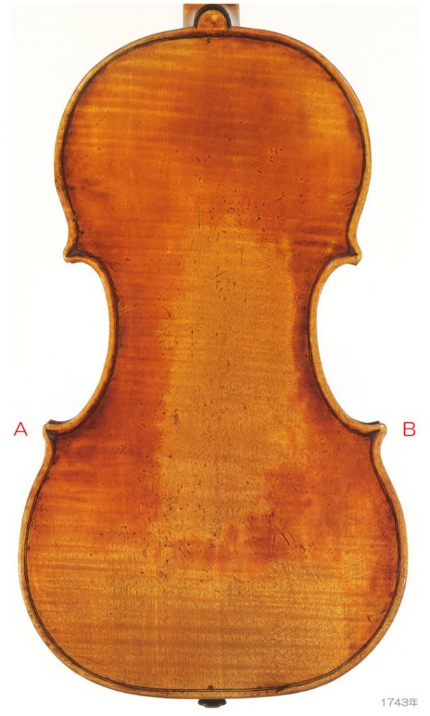 Bartolomeo Giuseppe Guarneri - del Gesù ( 1698-1744 ) Violin Carrodus 1743年 - A L
