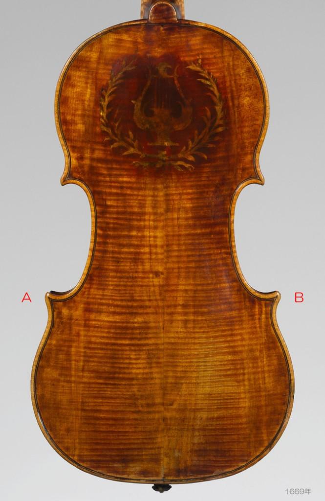 Nicolò Amati ( 1596–1684 ) violin 1669年 body L350 W201 - C L