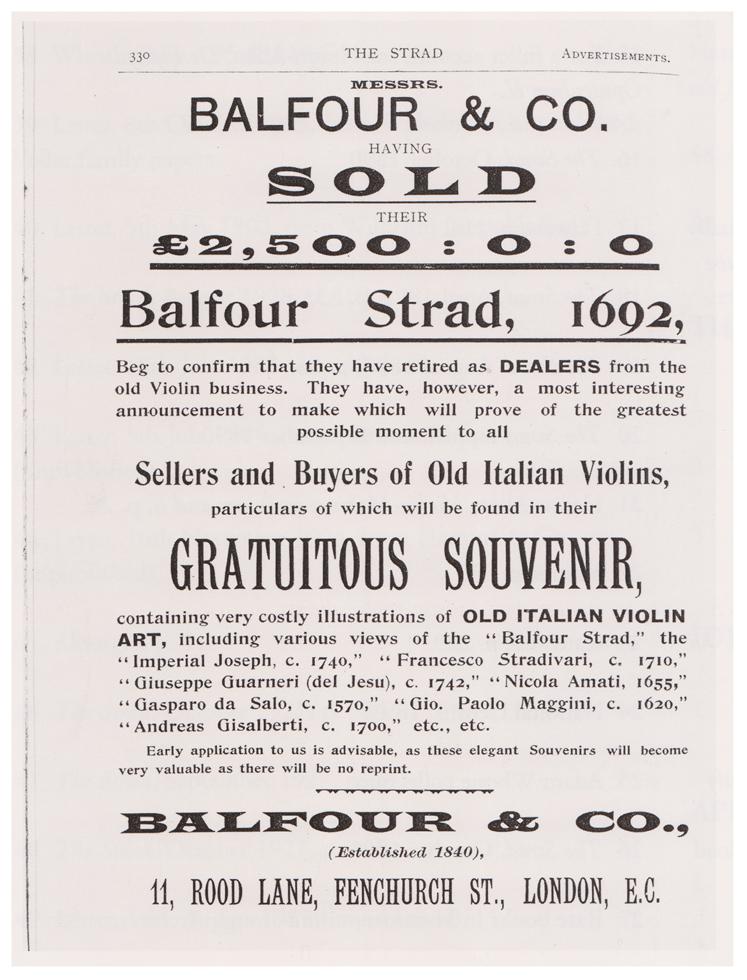 BALFOUR March 1903 - A L