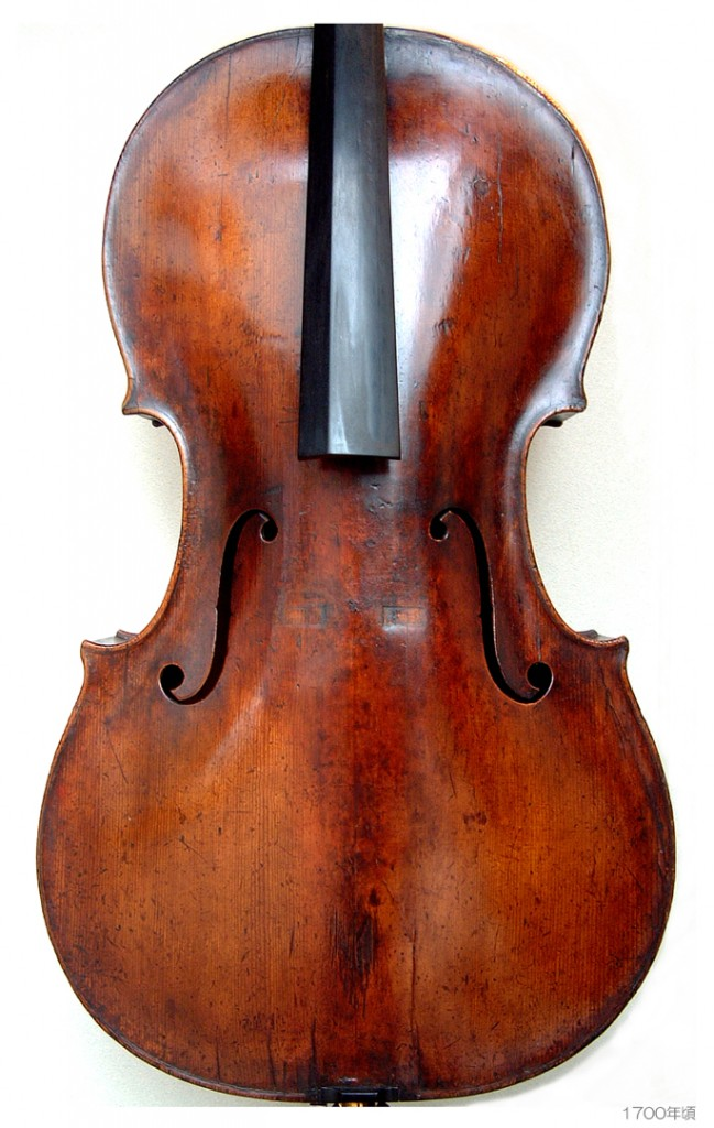 Old Italian Cello c1680 - 1700 ( F 734-348-230-432 B 735-349-225-430 stop 403 ff 100 ) - A L