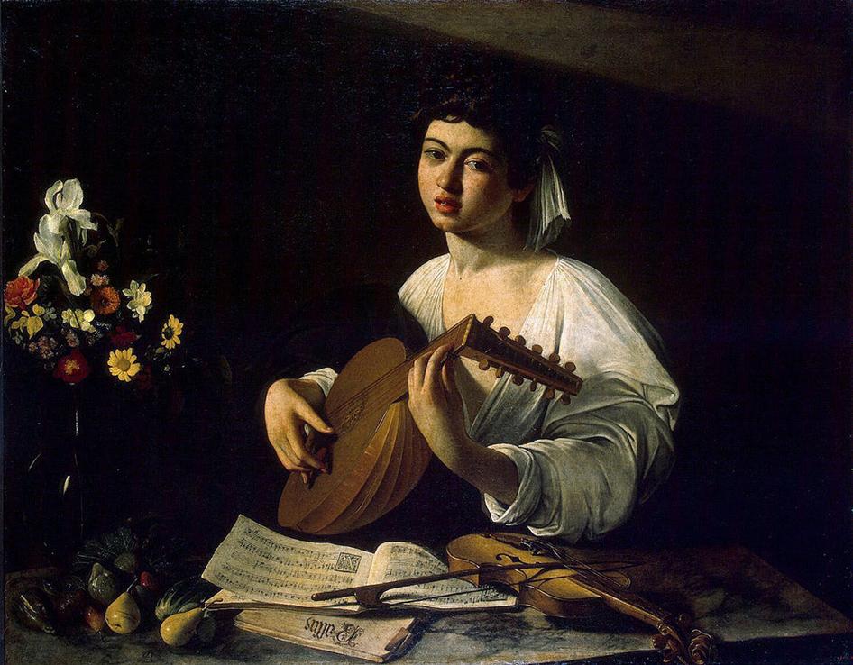 カラヴァッジオ リュート奏者 ( 1595年頃 ) - 1 L